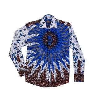 Men's African Print fashion Long Sleeve shirt