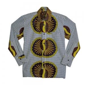 Kwedusa Men's Long Sleeve African Print wear