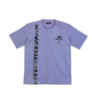 Men's Extra Large Ash Hand Sown Cotton Shirt With Pocket Squared Design